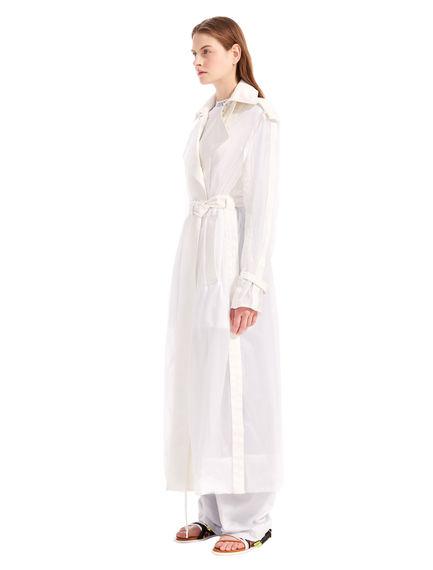 Cotton-Detailed Mac Coat