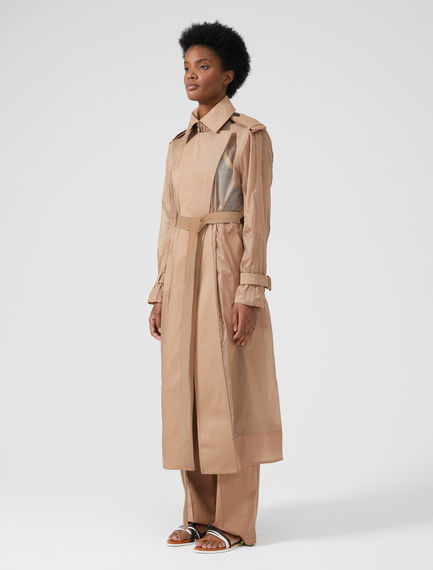 Cotton-Detailed Mac Coat