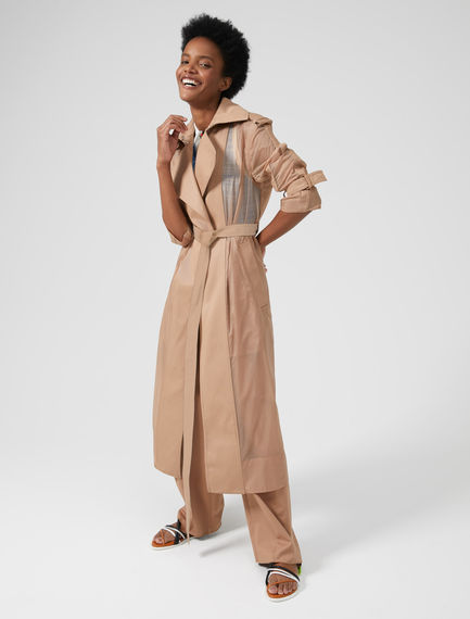 Cotton-Detailed Mac Coat Sportmax