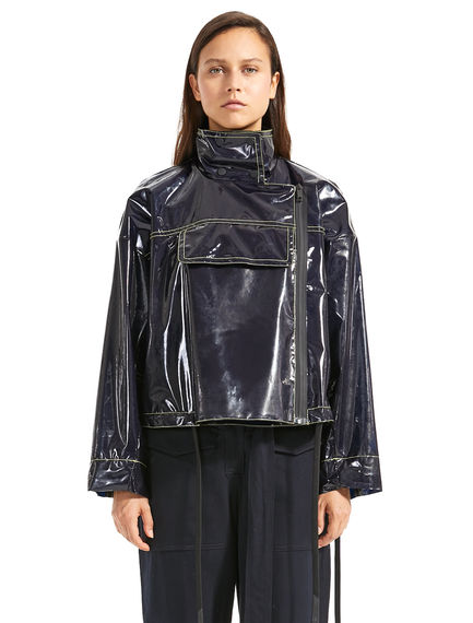 Wet-look Cropped Jacket
