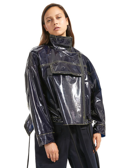 Wet-look Cropped Jacket Sportmax