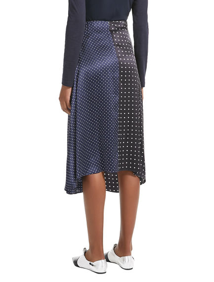 Polka Dot Asymmetric Silk Skirt Sportmax