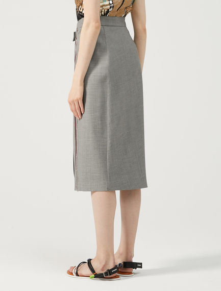 Sartorial Wool-canvas Skirt