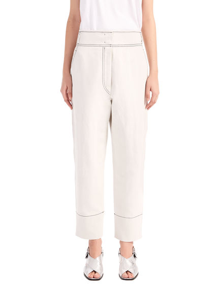 Denim-Detailed Trousers Sportmax