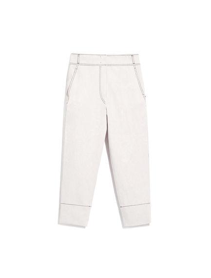 Denim-Detailed Trousers