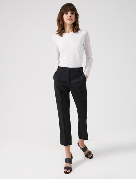 Pantaloni cropped in canvas Sportmax