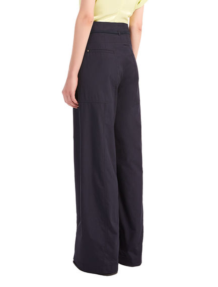 Pantaloni in popeline con coulisse