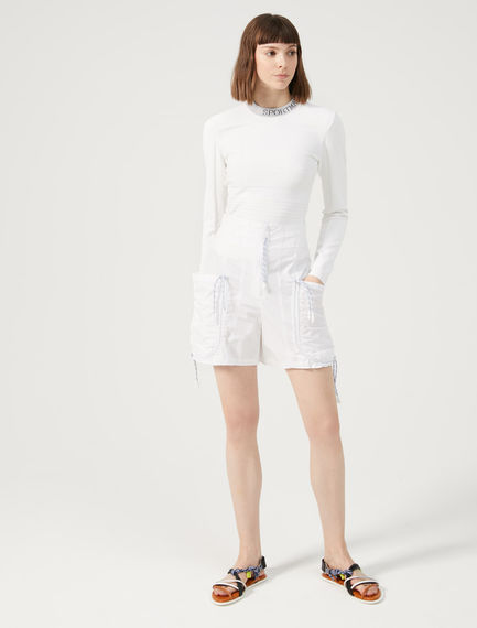 Gathered Cotton Shorts Sportmax