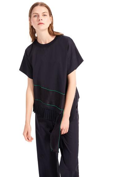 T-shirt in cotone e seta Sportmax