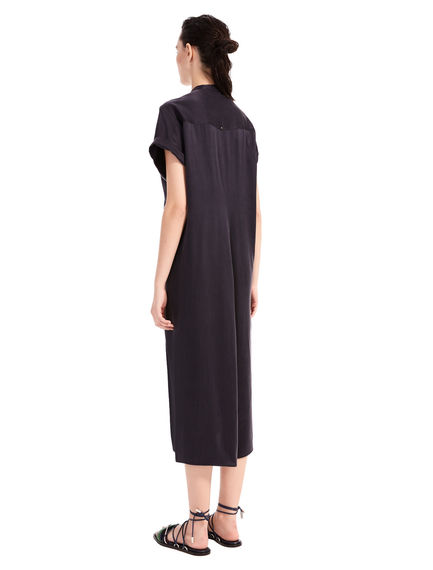 Short-sleeved Satin Dress