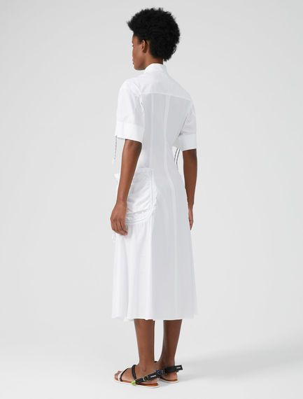 Cord-Detailed Cotton Dress