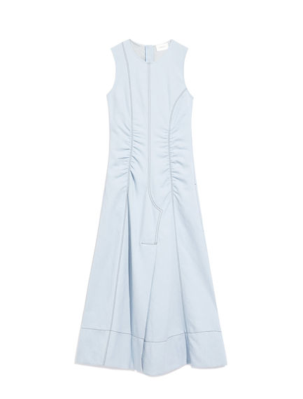 Denim-Detailed Cotton Dress