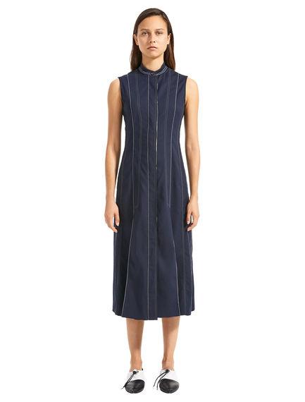 Sleeveless Polka Pleat Dress