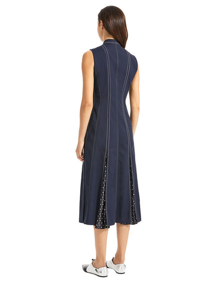 Sleeveless Polka Pleat Dress Sportmax