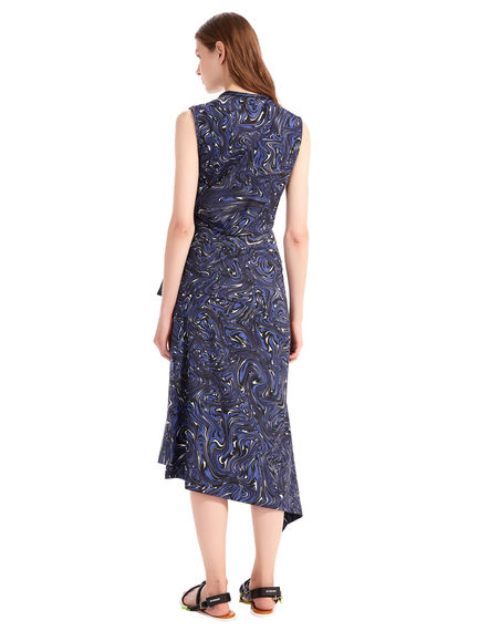 Swirl Printed Sash Dress