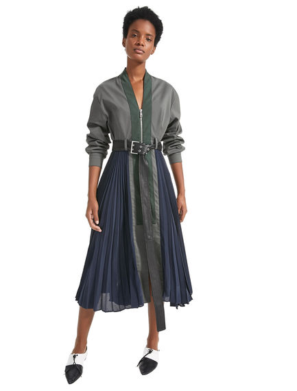 Directional Crepe & Cotton Dress