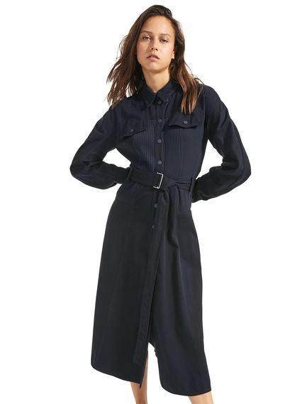 Cavalry Cotton Belted Shirtdress Sportmax