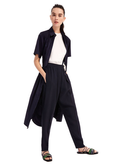 Short-sleeved Poplin Shirtdress