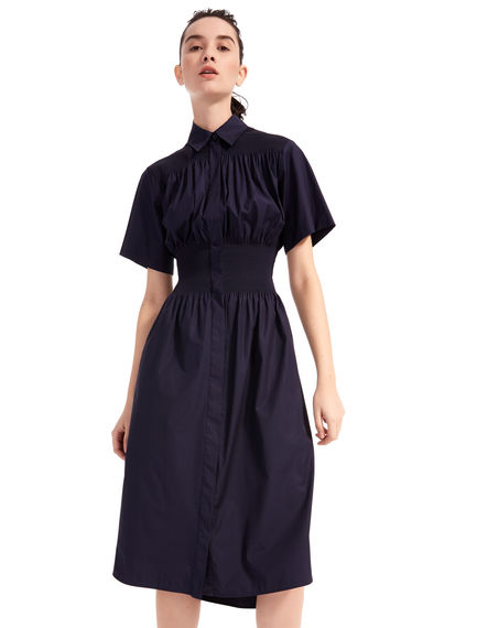 Short-sleeved Poplin Shirtdress Sportmax