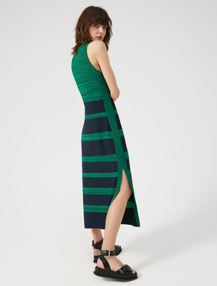 Striped Viscose Tank Top Dress Sportmax