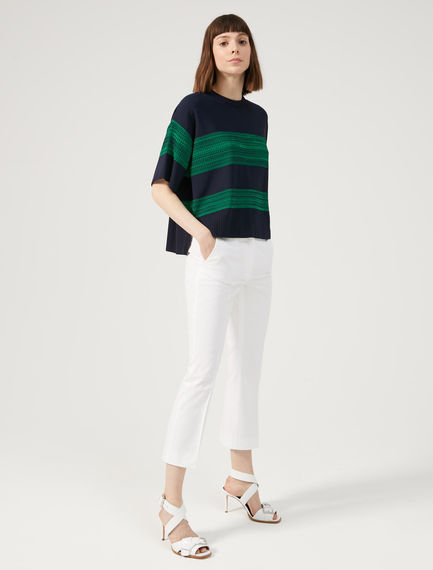 Striped Chiné Sweater