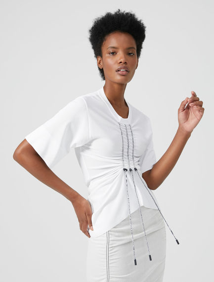Cord Tie Viscose T-shirt Sportmax