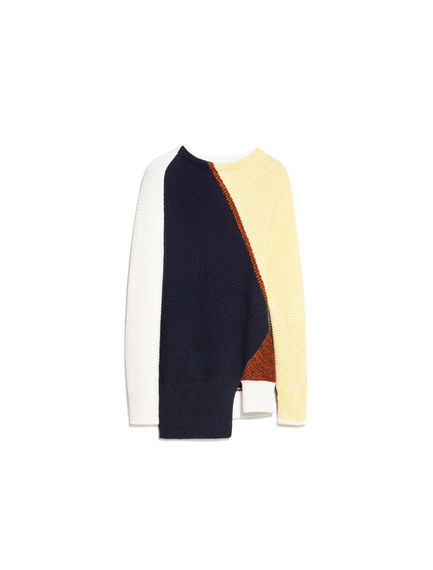 Graphic Patchwork Cashmere Sweater
