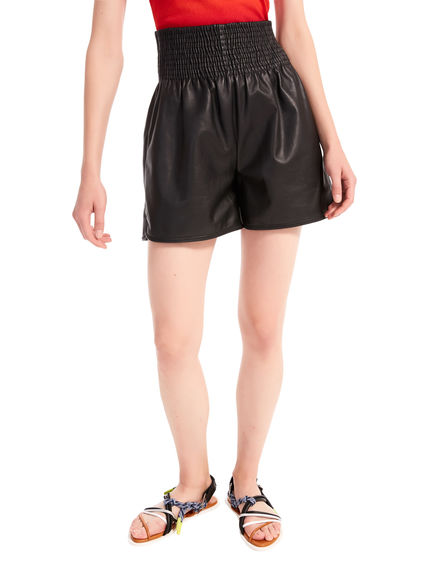 Gathered Leather Shorts Sportmax