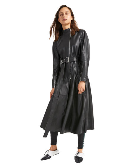 Nappa Leather Biker Coat Sportmax