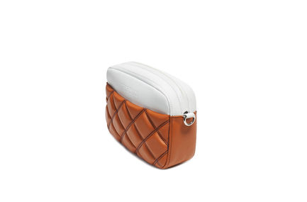 Quilted Nappa Leather Pouch Bag