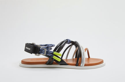 Corded Flat Leather Sandals Sportmax