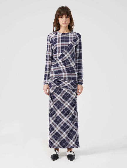 Reversible Check Dress