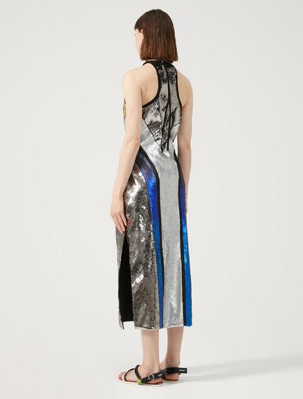 Sequin Halter-Neck Dress