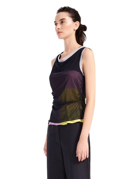 Two-Tone Geometric Top Sportmax