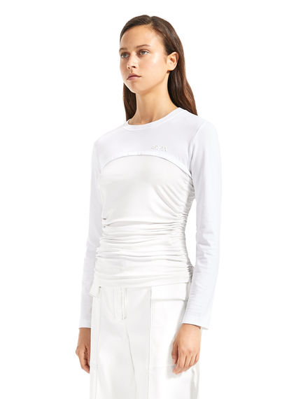 Ruched Long-sleeve T-Shirt