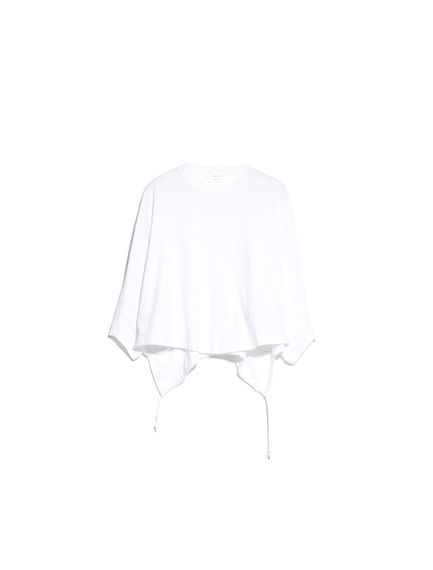 Drawstring-back Cropped T-Shirt
