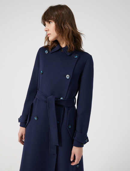 Two-tone Wool Trench Coat Sportmax