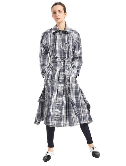 Trench over con motivo check Sportmax