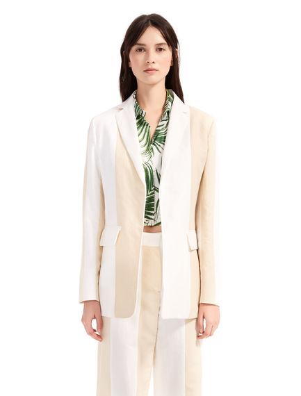 Two-Tone Linen Blazer