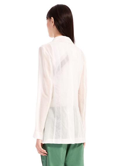 Sheer Cotton-Organza Blazer