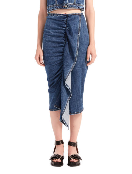 Gonna in denim con balza Sportmax