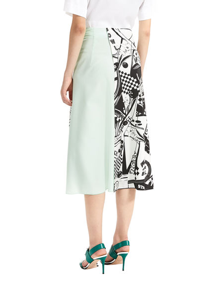 Colour Contrast Wraparound Skirt