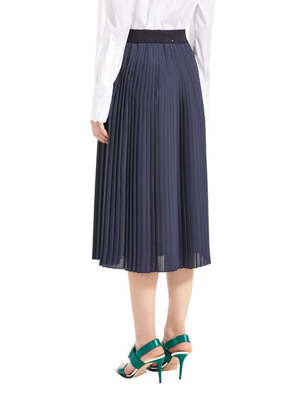 Bowling Print Pleated Skirt