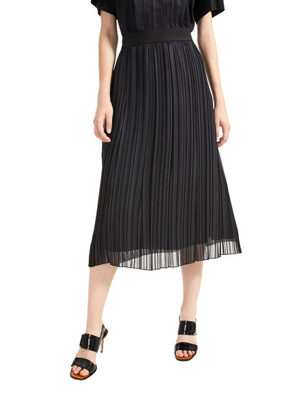 Gonna plissé in chiffon laminato Sportmax