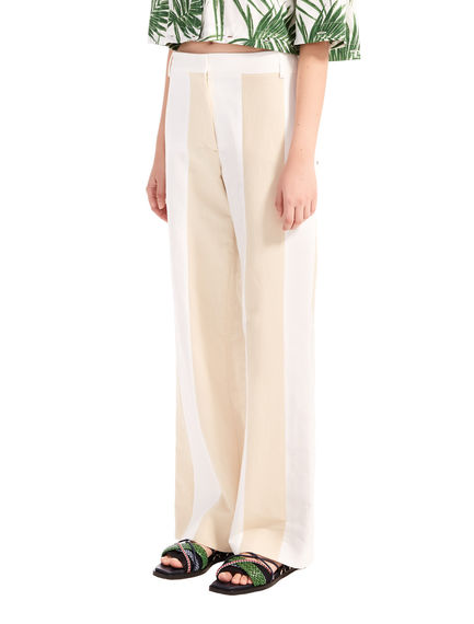 Two-Tone Linen Trousers