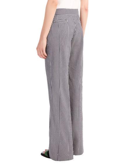 Multi-Stripe Seersucker Trousers