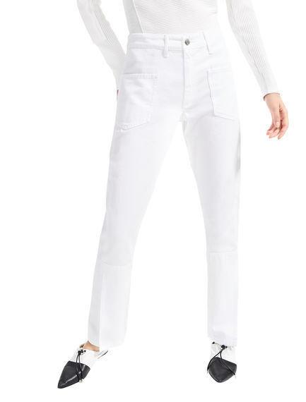 Overlap Seam White Jeans Sportmax