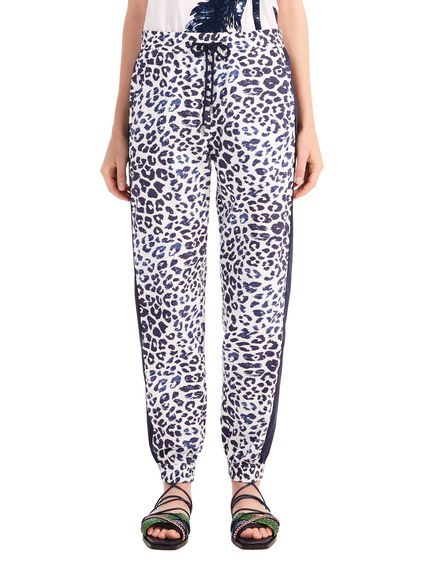 Printed Muslin Jogging Trousers