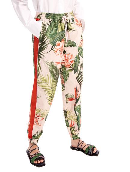 Printed Muslin Jogging Trousers Sportmax