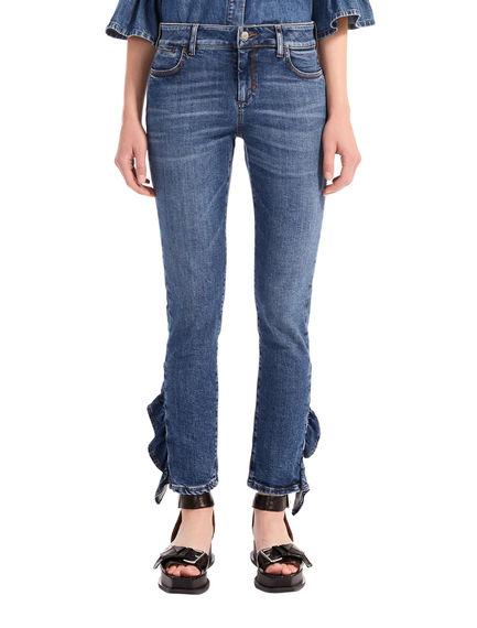 Jeans skinny con rouche